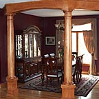 Two Wooden Pilars