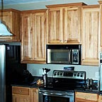 Close-up of High Quality Kitchen Cabinets