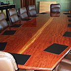 Professional Conference Room Table made out of Bubinga Wood